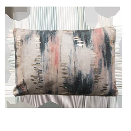 Paint pink grey kussen verf goud grijs blauw roze paars hinck amsterdam polyester digital printing 35x50cm woonaccessoires met bijzondere texturen met oog voor detail, handgemaakt en of handgeweven