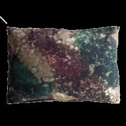 Paint floral kussen verf goud groen roze paars hinck amsterdam polyester digital printing 35x50cm woonaccessoires met bijzondere texturen met oog voor detail, handgemaakt en of handgeweven