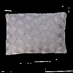 Cross charcoal kussen donkergrijs grijs antraciet hinck amsterdam linnen hand geborduurd 35x50cm woonaccessoires met bijzondere texturen met oog voor detail, handgemaakt en of handgeweven