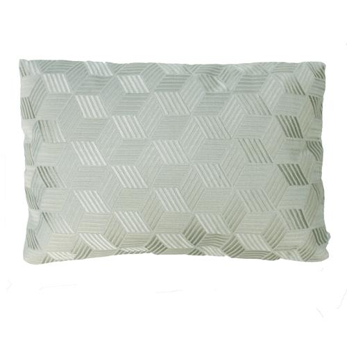 Cross dewgreen kussen zachtgroen groen mint green hinck amsterdam linnen hand geborduurd 35x50cm woonaccessoires met bijzondere texturen met oog voor detail, handgemaakt en of handgeweven