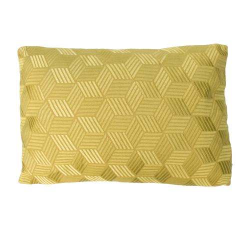 Cross mustard kussen mosterdgeel warmgeel geel hinck amsterdam linnen hand geborduurd 35x50cm woonaccessoires met bijzondere texturen met oog voor detail, handgemaakt en of handgeweven