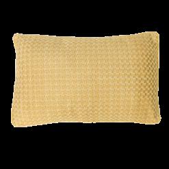 Richstitch ochre kussen okergeel ocre geel yellow hinck amsterdam linnen hand geborduurd 35x55cm woonaccessoires met bijzondere texturen met oog voor detail, handgemaakt en of handgeweven