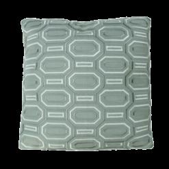 Octagon borduur oldgreen kussen groen zachtgroen hinck amsterdam linnen hand geborduurd 45x45cm woonaccessoires met bijzondere texturen met oog voor detail, handgemaakt en of handgeweven