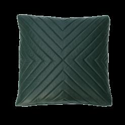 Bottlegreen leren kussen donker groen green hinck amsterdam leer 45x45cm woonaccessoires met bijzondere texturen met oog voor detail, handgemaakt en of handgeweven