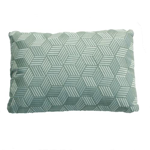 Cross oldgreen kussen zachtgroen groen diepgroen green hinck amsterdam linnen hand geborduurd 35x50cm woonaccessoires met bijzondere texturen met oog voor detail, handgemaakt en of handgeweven