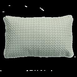 Richstitch dewgreen kussen lichtgroen groen mint green hinck amsterdam linnen hand geborduurd 35x55cm woonaccessoires met bijzondere texturen met oog voor detail, handgemaakt en of handgeweven