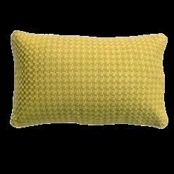 Richstitch mustard kussen mosterdgeel geel yellow hinck amsterdam linnen hand geborduurd 35x55cm woonaccessoires met bijzondere texturen met oog voor detail, handgemaakt en of handgeweven