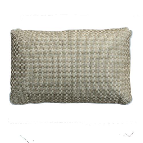 Richstitch offwhite kussen naturel wit gold goud beige hinck amsterdam linnen hand geborduurd 35x55cm woonaccessoires met bijzondere texturen met oog voor detail, handgemaakt en of handgeweven