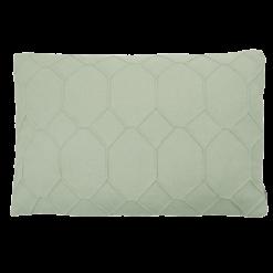 hexagon mint green kussen licht groen hinck amsterdam wolvilt 40x60cm woonaccessoires met bijzondere texturen met oog voor detail, handgemaakt en of handgeweven
