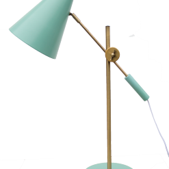 Lamp koper peacockgreen Bureaulamp staande lamp tafellamp goud blauw aqua hinck amsterdam woonaccessoires met bijzondere texturen met oog voor detail, handgemaakt en of handgeweven