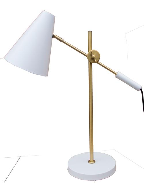 Lamp koper offwhite Bureaulamp staande lamp tafellamp koper goud wit hinck amsterdam woonaccessoires met bijzondere texturen met oog voor detail, handgemaakt en of handgeweven