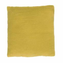 Jersey string mustard katoen jersey/linnen kussen mosterd groen geel hinck amsterdam jersey 40x40cm woonaccessoires met bijzondere texturen met oog voor detail, handgemaakt en of handgeweven