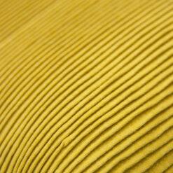 string katoenjersey/linnen mustard detail kussen mosterd groen geel hinck amsterdam jersey 40x40cm woonaccessoires met bijzondere texturen met oog voor detail, handgemaakt en of handgeweven
