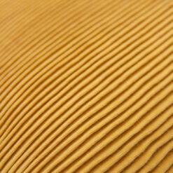 string katoenjersey/linnen ochre detail kussen ochre oker geel hinck amsterdam jersey 40x40cm woonaccessoires met bijzondere texturen met oog voor detail, handgemaakt en of handgeweven