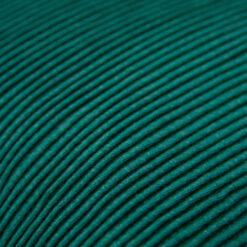 string katoenjersey/linnen peacockgreen detail kussen petrol groen blauw hinck amsterdam jersey 40x40cm woonaccessoires met bijzondere texturen met oog voor detail, handgemaakt en of handgeweven