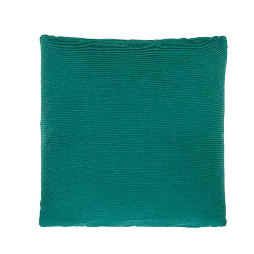 Jersey string peacockgreen katoen jersey/linnen kussen petrol groen blauw hinck amsterdam jersey 40x40cm woonaccessoires met bijzondere texturen met oog voor detail, handgemaakt en of handgeweven