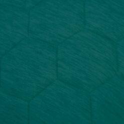 jersey hexagon puff peacockgreen detail kussen petrol groen blauw hinck amsterdam jersey 50x50cm woonaccessoires met bijzondere texturen met oog voor detail, handgemaakt en of handgeweven