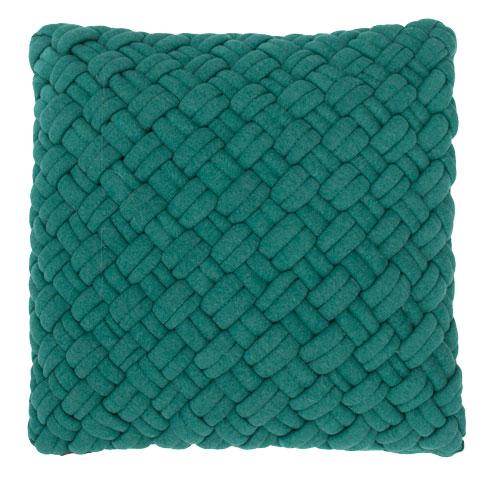 wicker peacockgreen kussen petrol blauw groen hinck amsterdam jersey 40x40cm woonaccessoires met bijzondere texturen met oog voor detail, handgemaakt en of handgeweven
