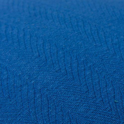 herringbone cobalt blue detail kussen blauw kobalt fel hinck amsterdam katoen 55x55cm woonaccessoires met bijzondere texturen met oog voor detail, handgemaakt en of handgeweven