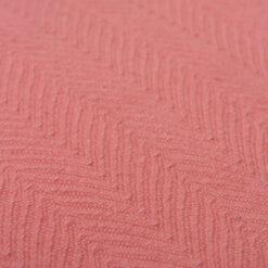 herringbone flamingo detail kussen roze hinck amsterdam katoen 55x55cm woonaccessoires met bijzondere texturen met oog voor detail, handgemaakt en of handgeweven