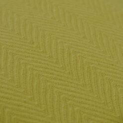 herringbone mustard detail kussen mosterd groen geel hinck amsterdam katoen 55x55cm woonaccessoires met bijzondere texturen met oog voor detail, handgemaakt en of handgeweven