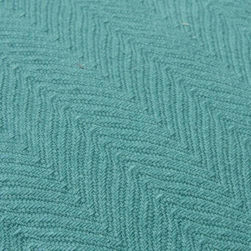 herringbone sea blue detail kussen zee blauw zacht hinck amsterdam katoen 55x55cm woonaccessoires met bijzondere texturen met oog voor detail, handgemaakt en of handgeweven