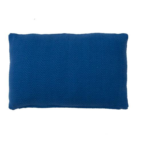 herringbone cobaltblue kussen blauw kobalt fel hinck amsterdam katoen 35x55cm woonaccessoires met bijzondere texturen met oog voor detail, handgemaakt en of handgeweven
