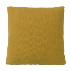 herringbone amber large kussen warm geel oker hinck amsterdam katoen 55x55cm woonaccessoires met bijzondere texturen met oog voor detail, handgemaakt en of handgeweven