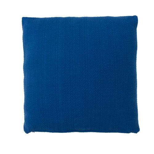 herringbone cobalt blue large kussen blauw kobalt fel hinck amsterdam katoen 55x55cm woonaccessoires met bijzondere texturen met oog voor detail, handgemaakt en of handgeweven