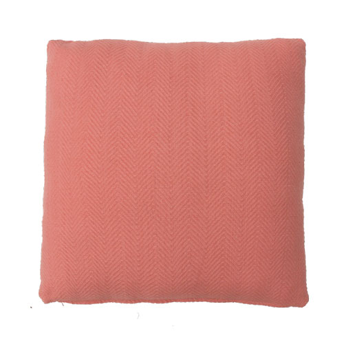 herringbone flamingo large kussen roze hinck amsterdam katoen 55x55cm woonaccessoires met bijzondere texturen met oog voor detail, handgemaakt en of handgeweven