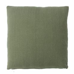 herringbone moss green large kussen groen olijf hinck amsterdam katoen 55x55cm woonaccessoires met bijzondere texturen met oog voor detail, handgemaakt en of handgeweven