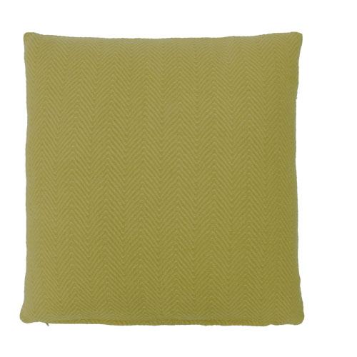 herringbone mustard large kussen mosterd groen geel hinck amsterdam katoen 55x55cm woonaccessoires met bijzondere texturen met oog voor detail, handgemaakt en of handgeweven