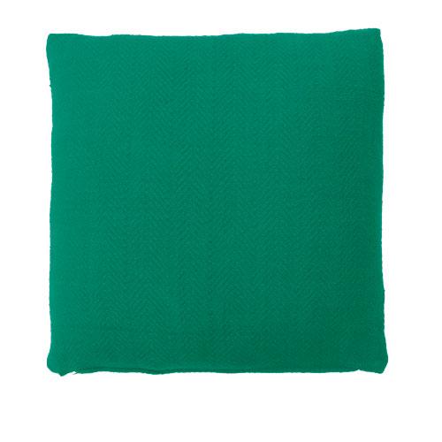 Herringbone pepper green large kussen fel diep groen hinck amsterdam katoen 55x55cm woonaccessoires met bijzondere texturen met oog voor detail, handgemaakt en of handgeweven