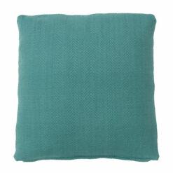 herringbone sea blue large kussen zee blauw zacht hinck amsterdam katoen 55x55cm woonaccessoires met bijzondere texturen met oog voor detail, handgemaakt en of handgeweven