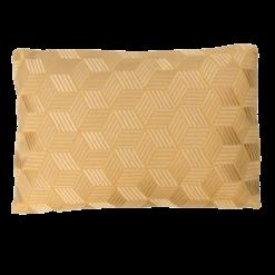 Cross ochre kussen okergeel warmgeel geel hinck amsterdam linnen hand geborduurd 35x50cm woonaccessoires met bijzondere texturen met oog voor detail, handgemaakt en of handgeweven