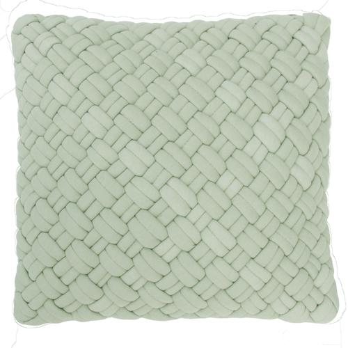 wicker dewgreen kussen mint zacht groen hinck amsterdam jersey 40x40cm woonaccessoires met bijzondere texturen met oog voor detail, handgemaakt en of handgeweven