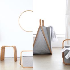 Interieur inspiratie bamboe bamboo kruk spiegel wasmand mand nieuwste trend vernieuwend hinck amsterdam woonaccessoires
