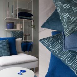 Interieur inspiratie cobalt blue kobalt blauw nieuwste trend kussens vernieuwend hinck amsterdam woonaccessoires