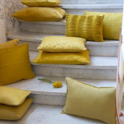 Interieur inspiratie mustard mosterd geel groen nieuwste trend kussens vernieuwend hinck amsterdam woonaccessoires