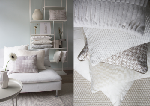 Interieur inspiratie wit white naturel nieuwste trend kussens vernieuwend hinck amsterdam woonaccessoires